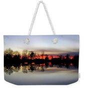 Hearns Pond Silhouette Weekender Tote Bag