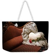 Heart And Rose Victorian Style Weekender Tote Bag