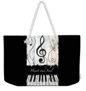 Heart And Soul - Music In Motion Weekender Tote Bag