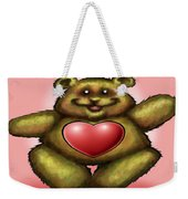 Heart Bear Weekender Tote Bag