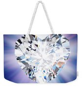 Heart Diamond Weekender Tote Bag by Setsiri Silapasuwanchai