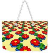Heart Flowers Weekender Tote Bag