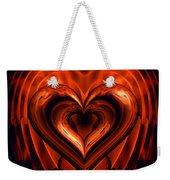 Heart In Flames Weekender Tote Bag