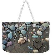 Heart In The Sand Weekender Tote Bag