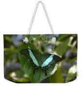 Heart Leaf Butterfly Weekender Tote Bag