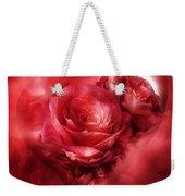 Heart Of A Rose - Red Weekender Tote Bag