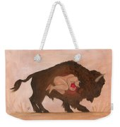 Heart Of The Buffalo Weekender Tote Bag