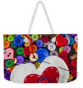 Heart Pushpin Chusion  Weekender Tote Bag