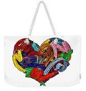 Heart Ribbons Weekender Tote Bag