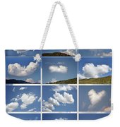 Heart Shaped Clouds - Collage Weekender Tote Bag