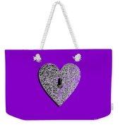 Heart Shaped Lock Purple .png Weekender Tote Bag