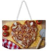 Heart Shaped Pizza Weekender Tote Bag