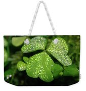 Heart Shaped With Water Drops Weekender Tote Bag