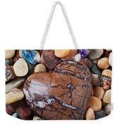 Heart Stone Among River Stones Weekender Tote Bag