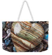 Heart Stone Weekender Tote Bag by Garry Gay