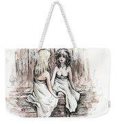Heart To Heart Weekender Tote Bag