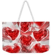 Hearts Afire Abstract Weekender Tote Bag