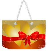 Hearts And Bow Weekender Tote Bag