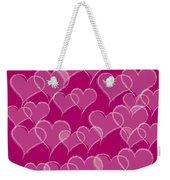 Hearts Weekender Tote Bag