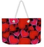 Hearts Collage Weekender Tote Bag