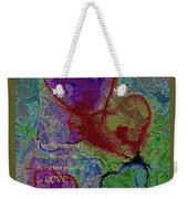 Hearts Knit Together In Love Weekender Tote Bag