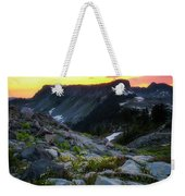 Heather Meadows Sunset Weekender Tote Bag