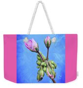 Nature Botanical Floral Pink Flowers Geranium Blooms  Weekender Tote Bag