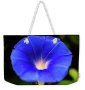 Heavenly Blue Morning Glory Closeup Weekender Tote Bag
