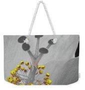 Heavenly Hibiscus Bw Yellow 12 Weekender Tote Bag
