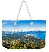 Heavenly South Lake Tahoe View 1 - Left Panel Weekender Tote Bag