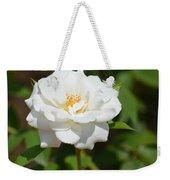Heavenly White Rose Weekender Tote Bag