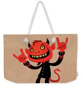 Heavy Metal Devil Weekender Tote Bag by John Schwegel