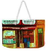 Hebrew Delicatessen Weekender Tote Bag
