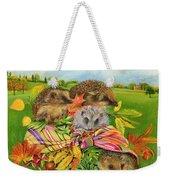 Hedgehogs Inside Scarf Weekender Tote Bag