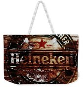 Heineken Beer Wood Sign 1j Weekender Tote Bag