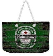 Heineken Beer Wood Sign 2 Weekender Tote Bag