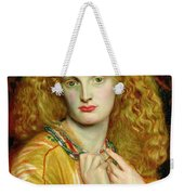 Helen Of Troy Weekender Tote Bag by Dante Charles Gabriel Rossetti