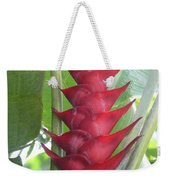 Heliconia Hot Flash Weekender Tote Bag
