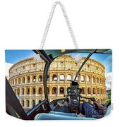 Helicopter On Colosseo Weekender Tote Bag
