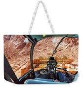 Helicopter On Monastery Of St Catherine Weekender Tote Bag