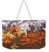 Heavy Weather News - Abstract Modern Art Weekender Tote Bag