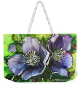 Helleborous Blue Lady Weekender Tote Bag