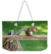 Hello Are You Gonna Eat All That? Chipmunk And Squirrel Weekender Tote Bag