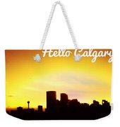 Hello Calgary  Weekender Tote Bag
