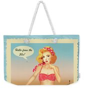Hello From The 50s Weekender Tote Bag