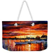Helsinki - Sailboats At Yacht Club Weekender Tote Bag