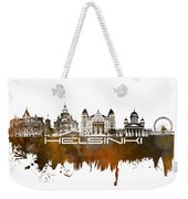 Helsinki Skyline City Brown Weekender Tote Bag