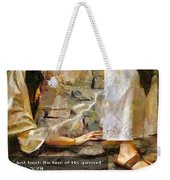 Hem Of His Garment And Text Weekender Tote Bag