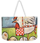 Hen And Chicks After Storm Weekender Tote Bag