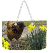 Hen And Daffodils Weekender Tote Bag